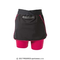 CORONA ladies running skirt black/pink