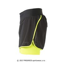 CORONA ladies running skirt black/reflective yellow