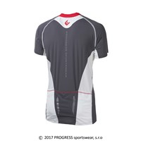ORION mens cycling short sleeve jersey grey/white