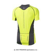 ORION HI-VIZ mens cycling short sleeve jersey reflective yellow/white