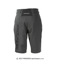 PHOENIX mens bike shorts grey/black