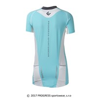 PERSEA ladies cycling short sleeve jersey Lt.blue/white
