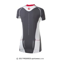 PERSEA ladies cycling short sleeve jersey grey/white