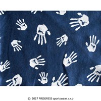 "CEZ PRINT fully printed headscarf tie-back ""BLUE HANDS"""