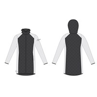 SILVRETTA ladies hooded full zip hybrid coat white/black