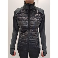 DINARA ladies full zip hybrid jacket black melange/black