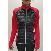DINARA ladies full zip hybrid jacket pink/black