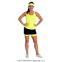 ISLA HI-VIZ ladies sports singlet reflective yellow/white