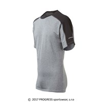 MENTOR mens bamboo T-shirt black/grey melange