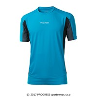 SPRINTER mens short sleeve Tee turquoise/black/grey