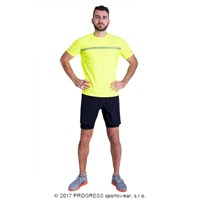 PANTER HI-VIZ mens sports T-shirt reflective yellow