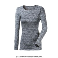 LOCA ladies long sleeve T-shirt black melange