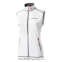 TARA ladies full zip vest white/pink