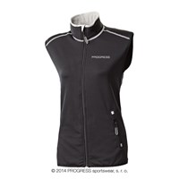 TARA ladies full zip vest black