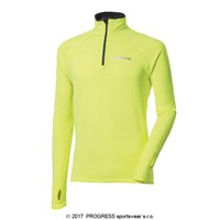KAMIL HI-VIZ mens zip neck pullover reflective yellow