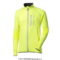 CLAVOS HI-VIZ 23DB mens running full zip jacket reflective yellow