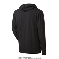 CAMERON mens bamboo hooded long sleeve T-shirt black