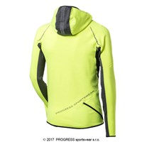 VICTOR HI-VIZ mens running 1/3 zip hoodie reflective yellow/black