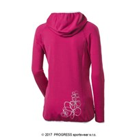 REBECA ladies hooded full zip jacket black melange/pink