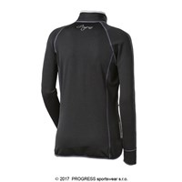 TISPA II ladies sports full zip jacket black/Lt.blue sew.