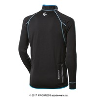 CLAVOS mens running full zip jacket black/yellow sew.