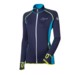 TISPA II ladies sports full zip jacket black/green-white sew.